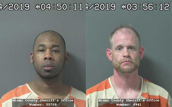 Arrest photos of Giamone Locke, 35, of Kokomo and Jacob Aulds, 34, of Peru